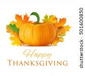 happy thanksgiving day greeting ... | Shutterstock .eps vector #501600850