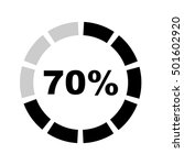 seventy percentage circle icon... | Shutterstock .eps vector #501602920