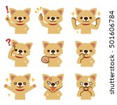 set of dog look | Shutterstock .eps vector #501606784