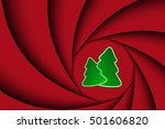 red christmas background with... | Shutterstock .eps vector #501606820