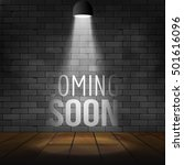 coming soon message illuminated ... | Shutterstock .eps vector #501616096