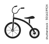 tricycle icon in black style...   Shutterstock .eps vector #501619924