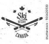 ski resort  canada. concept for ... | Shutterstock .eps vector #501620530