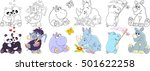 cartoon animals set. collection ... | Shutterstock .eps vector #501622258
