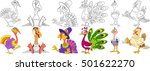 cartoon animals set. collection ... | Shutterstock .eps vector #501622270
