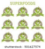 superfood labens | Shutterstock .eps vector #501627574