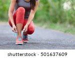 running shoes   closeup of...   Shutterstock . vector #501637609