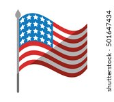 united states of america flag... | Shutterstock .eps vector #501647434