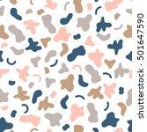 vector seamless pattern memphis ... | Shutterstock .eps vector #501647590
