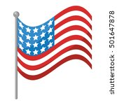 united states of america flag... | Shutterstock .eps vector #501647878