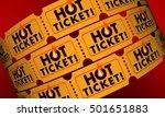 hot ticket popular event in... | Shutterstock . vector #501651883