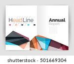geometric annual report... | Shutterstock .eps vector #501669304