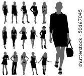 fashion woman silhouettes | Shutterstock .eps vector #50167045