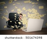 scared by too many email | Shutterstock . vector #501674398