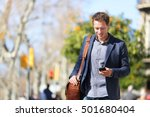 young urban businessman... | Shutterstock . vector #501680404