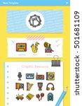 icon set music vector   Shutterstock .eps vector #501681109