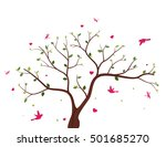 beautiful tree with birds | Shutterstock .eps vector #501685270