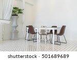 empty dining table interior... | Shutterstock . vector #501689689