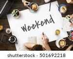 weekend planner agenda calendar ... | Shutterstock . vector #501692218