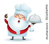 chef santa claus showing a... | Shutterstock .eps vector #501696994