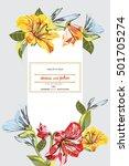 wedding template  card  flower...   Shutterstock .eps vector #501705274