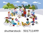 jesus christ is surrounded by... | Shutterstock .eps vector #501711499