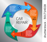 auto service and car repair... | Shutterstock .eps vector #501714028