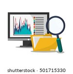 computer file lupe and... | Shutterstock .eps vector #501715330