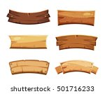 cartoon wood blank banners and... | Shutterstock .eps vector #501716233
