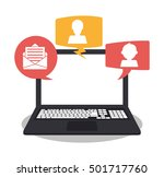 laptop bubbles and... | Shutterstock .eps vector #501717760