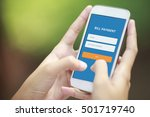 bill payment on smart phone | Shutterstock . vector #501719740