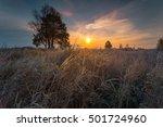 Autumnal Sunrise Landscape. Dr...
