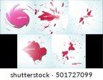 colorful paint splashes ...   Shutterstock .eps vector #501727099