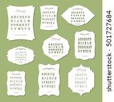 a large set of frames of... | Shutterstock .eps vector #501727684