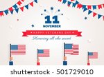 happy veterans day flyer ... | Shutterstock .eps vector #501729010