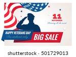 Happy Veterans Day Sale Banner. ...