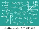 maths equations on school board....   Shutterstock .eps vector #501730570