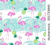 beautiful seamless pattern with ... | Shutterstock . vector #501733840