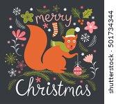 christmas illustration | Shutterstock .eps vector #501734344