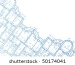 building background. plan of... | Shutterstock .eps vector #50174041