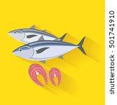 fish icon. tuna icon   Shutterstock .eps vector #501741910