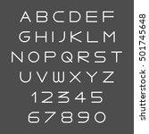 futuristic light white simple... | Shutterstock .eps vector #501745648