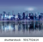 night city background. urban... | Shutterstock .eps vector #501752614