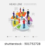 people are standing on pie... | Shutterstock .eps vector #501752728