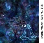 i am meditation word cloud   ... | Shutterstock . vector #501753118