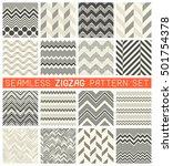 seamless zig zag pattern set....   Shutterstock .eps vector #501754378