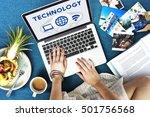 internet wireless connection... | Shutterstock . vector #501756568