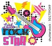 little rock star. typography... | Shutterstock .eps vector #501759349