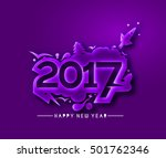 happy new year 2017 holiday... | Shutterstock .eps vector #501762346
