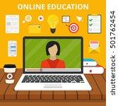 training  education  online... | Shutterstock .eps vector #501762454
